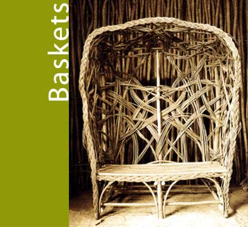 image of wicker seat